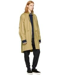3.1 Phillip Lim - Natural Tan Wool Fish-tail Parka - Lyst