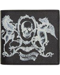 Alexander McQueen - Black Skull Coat Of Arms Wallet for Men - Lyst