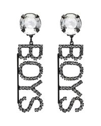 Ashley Williams - Black Crystal Boys Clip-on Earrings - Lyst
