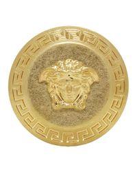 Versace - Metallic Gold Big Coin Ring - Lyst