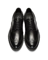 Dolce & Gabbana - Black Studded Brogues - Lyst