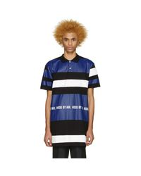 Hood By Air - Blue Tricolor Long Striped Polo for Men - Lyst
