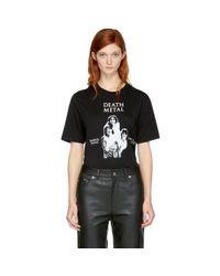 McQ Alexander McQueen | Black 'death Metal' T-shirt | Lyst