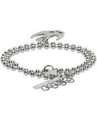 McQ Alexander McQueen - Metallic Silver Swallow Bracelet - Lyst