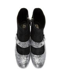 Marc Jacobs - Metallic Silver Margaux Cabochon Boots - Lyst