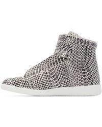 Maison Margiela - Black & White Snakeskin Future High-top Sneakers for Men - Lyst