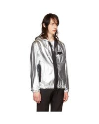 Givenchy - Metallic Silver Hooded Windbreaker for Men - Lyst