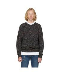 Maison Margiela Gray Grey Donegal Sweater for men