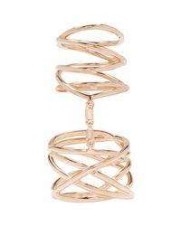 Repossi | Metallic Rose Gold Twin Ring | Lyst