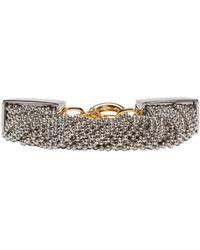 Alexander Wang - Metallic Silver Ball Chain Bracelet - Lyst
