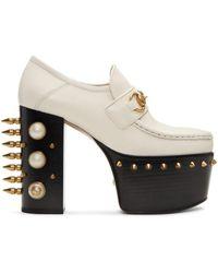 Gucci | Off-white Vegas Platform Loafer Heels | Lyst