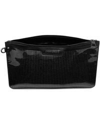 Jimmy Choo - Black Houndstooth Glitter Pouch for Men - Lyst