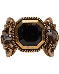 Alexander McQueen | Metallic Gold Snake & Dagger Ring for Men | Lyst