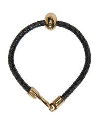 Alexander McQueen - Black Leather Skull Bracelet for Men - Lyst