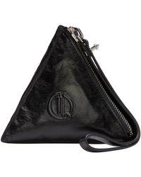 McQ Alexander McQueen - Black Pyramid Coin Pouch - Lyst