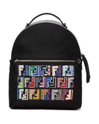 Fendi - Black Forever Zaino Backpack - Lyst