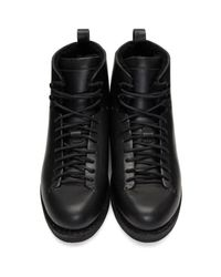 Feit - Black Wool Hiker Boots for Men - Lyst