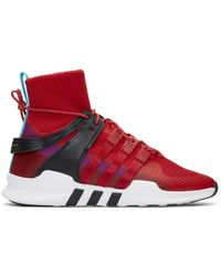 adidas Originals Red And Purple Eqt Support Adv Winter High