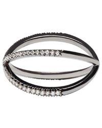 Eva Fehren - Blackened Gold Diamond Shorty Ring - Lyst