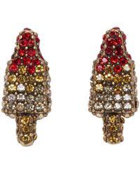 Marc Jacobs - Metallic Gold Poolside Rocket Pop Earrings - Lyst