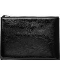 Saint Laurent | Black Patent Monogram Zipped Tablet Holder | Lyst