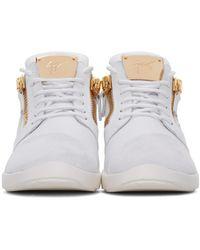 Giuseppe Zanotti White Leather Singles Sneakers for men