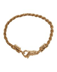 Emanuele Bicocchi - Metallic Gold Braided Knots Bracelet - Lyst