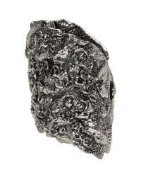 Alexander McQueen - Metallic Silver Molten Metal Cuff - Lyst
