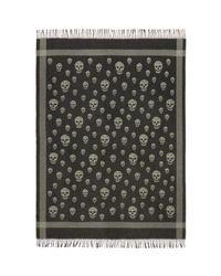 Alexander McQueen - Black & Grey Skull Blanket Scarf - Lyst
