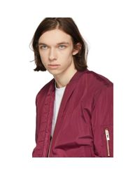 Han Kjobenhavn - Red Burgundy Nylon Bomber Jacket for Men - Lyst