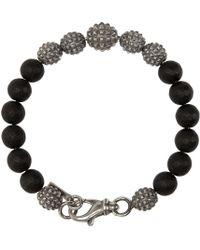 Emanuele Bicocchi - Silver & Black Beaded Bracelet for Men - Lyst