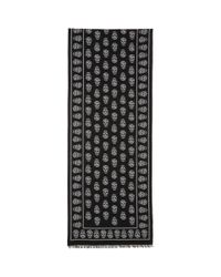 Alexander McQueen - Black Skull Scarf for Men - Lyst