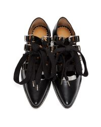 Toga Pulla - Black Lace-up Ballerina Oxfords - Lyst