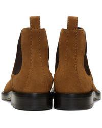 Loewe - Brown Tan Suede Chelsea Boots for Men - Lyst