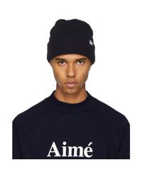 Aimé Leon Dore - Blue Navy Waffle Stitch Beanie for Men - Lyst
