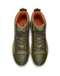 DIESEL - Green Diamond High-top Sneakers for Men - Lyst
