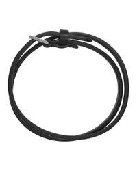 Valentino - Black Vltn Double Bracelet for Men - Lyst