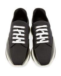 Pierre Hardy - Black Neoprene Turbo Sneakers - Lyst