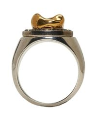 Alexander McQueen | Metallic Gold Tooth Ring for Men | Lyst
