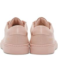 Common Projects - Pink Perforated Original Achilles Low Sneakers - Lyst