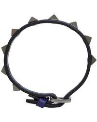 Valentino - Blue Rockstud Bracelet for Men - Lyst