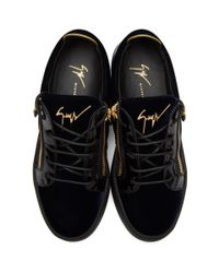 Giuseppe Zanotti - Blue Navy Velvet May London Sneakers - Lyst