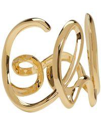 Chloé | Metallic Gold '' Cuff | Lyst