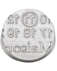 Maison Margiela - Metallic Silver Round Logo Ring for Men - Lyst