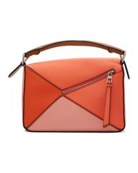 Loewe - Multicolor Puzzle Small Grained Leather Cross Body Bag - Lyst
