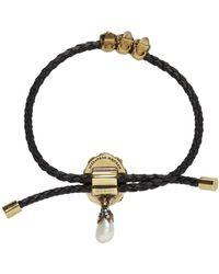Alexander McQueen - Black Skull Friendship Bracelet - Lyst