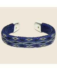 Chamula - Bendable Horsehair Bracelet - Blue/ivory for Men - Lyst