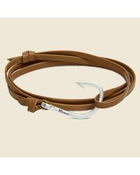 Miansai | Fish Hook Bracelet - Brown Leather/silver for Men | Lyst