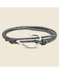 Miansai | Metallic Fish Hook Bracelet - Grey/blue for Men | Lyst