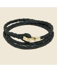 Miansai | Ipsum Wrap Bracelet - Black/gold for Men | Lyst